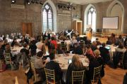Audience listening to the keynote in Smock Alley Theatre